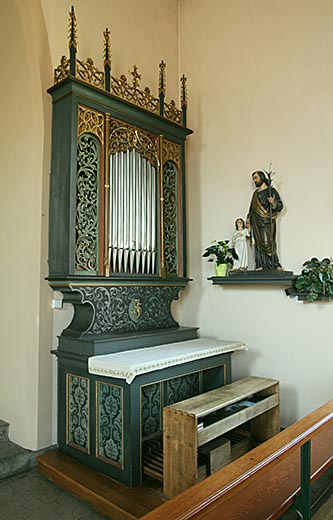 Niederbruck, l'orgue de la chapelle St-Wendelin, le